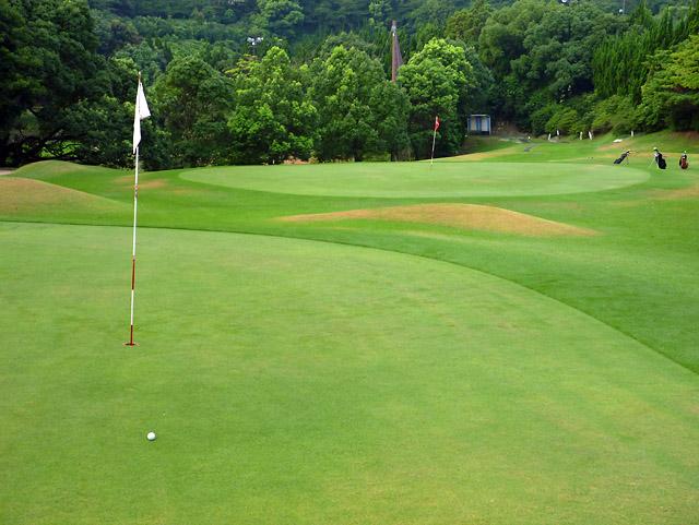 8/24 早朝油山ゴルフ場 練習ラウンド _b0042282_19594982.jpg