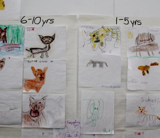 サウス・ストリート・シーポートで子ども達の描いた虎の絵見つけました_b0007805_0153840.jpg