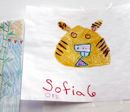サウス・ストリート・シーポートで子ども達の描いた虎の絵見つけました_b0007805_0155192.jpg