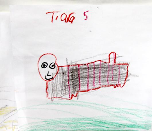 サウス・ストリート・シーポートで子ども達の描いた虎の絵見つけました_b0007805_0162941.jpg