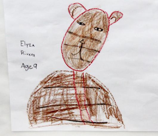 サウス・ストリート・シーポートで子ども達の描いた虎の絵見つけました_b0007805_016382.jpg