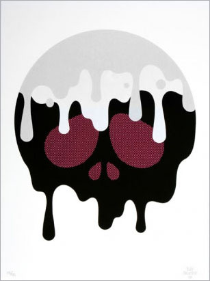 Drippy Skull Print by Buff Monster_c0155077_036847.jpg
