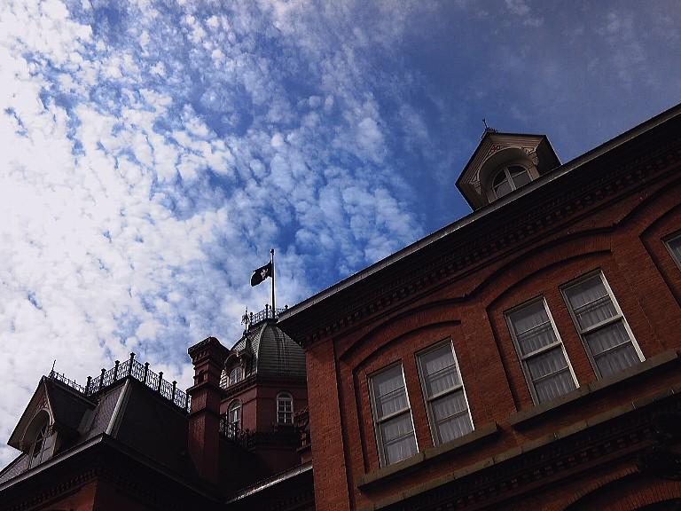 秋の赤レンガ庁舎