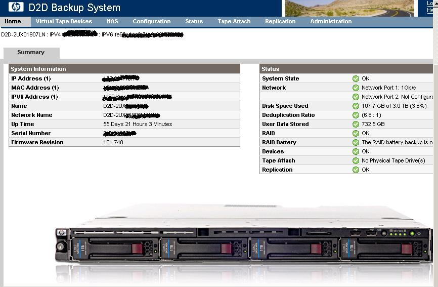HP D2D バックアップシステムと NetVault_a0056607_13433221.jpg