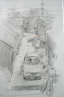 drawing~堀越克哉作品展 始まりました!_a0017350_0205277.jpg