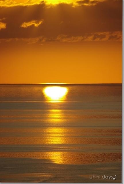知床ウトロの黄金の夕陽 と 羅臼岳登山_f0179404_21262856.jpg