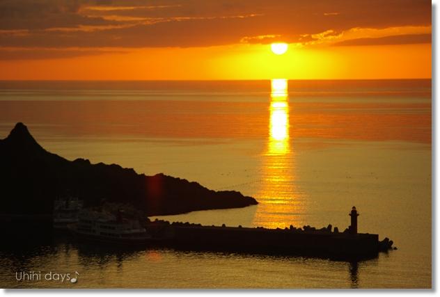 知床ウトロの黄金の夕陽 と 羅臼岳登山_f0179404_2130176.jpg