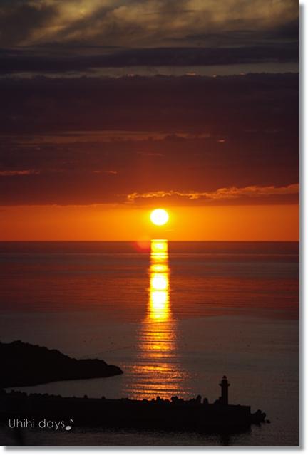 知床ウトロの黄金の夕陽 と 羅臼岳登山_f0179404_21303153.jpg