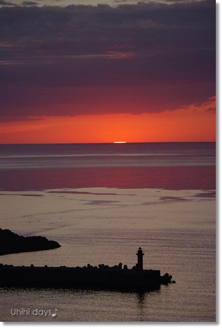 知床ウトロの黄金の夕陽 と 羅臼岳登山_f0179404_21315797.jpg
