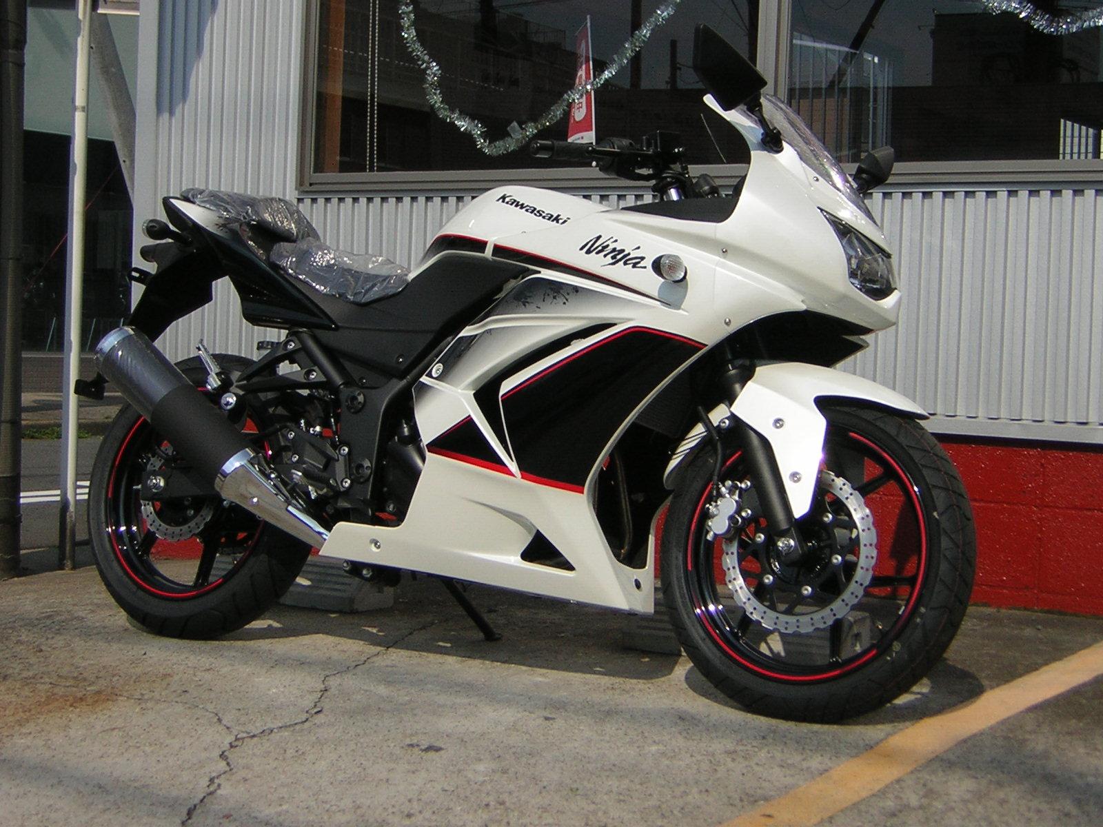 Ninja250R SE ホワイト_a0169121_15113159.jpg