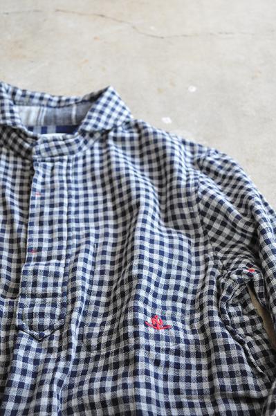 NATIC/ナティック インディゴダブルガーゼ 7分袖シャツ
