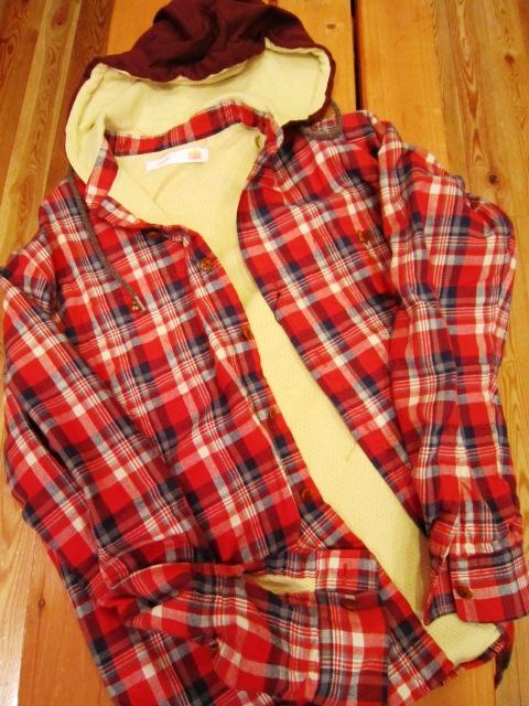 "melple \""裏サーマル ネルチェックフードシャツ\""_f0191324_41541100.jpg"