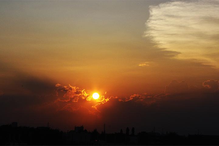 夕陽と富士山_f0170519_2093831.jpg
