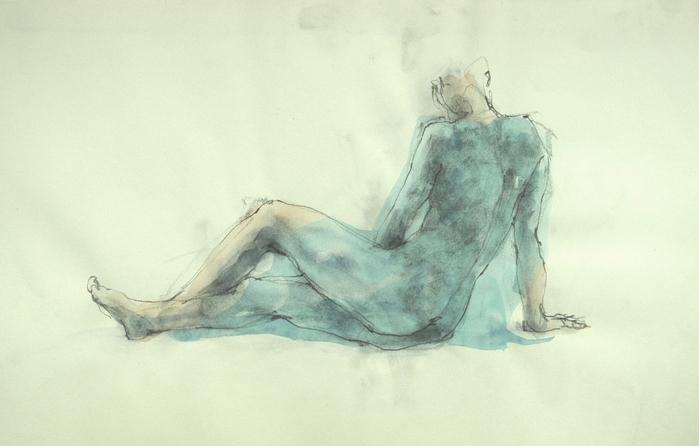 裸婦素描単彩_f0159856_2154023.jpg