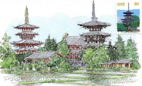 <2010年6月>伊勢路・奈良の旅(その3):「奈良・西ノ京の国宝寺」_c0119160_22294081.jpg