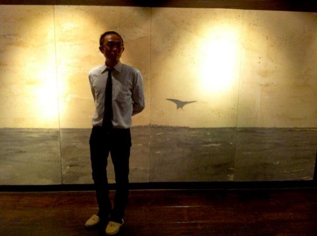筑波にて、ジョニー氏の絵画展_e0174203_5405025.jpg
