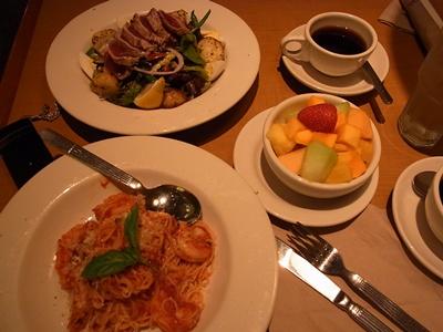 夕食「ノードストローム・カフェ」