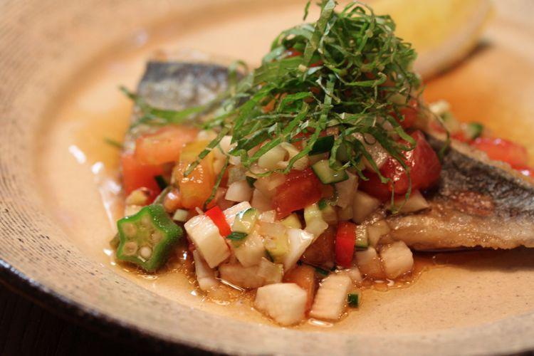 旬の香味野菜と夏野菜たっぷりのカラフルソースで暑い夏も元気に!【レシピ付き】