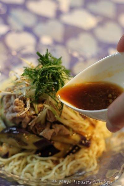 豚しゃぶと茄子の香味醤油 冷麺♪_c0139375_15292312.jpg