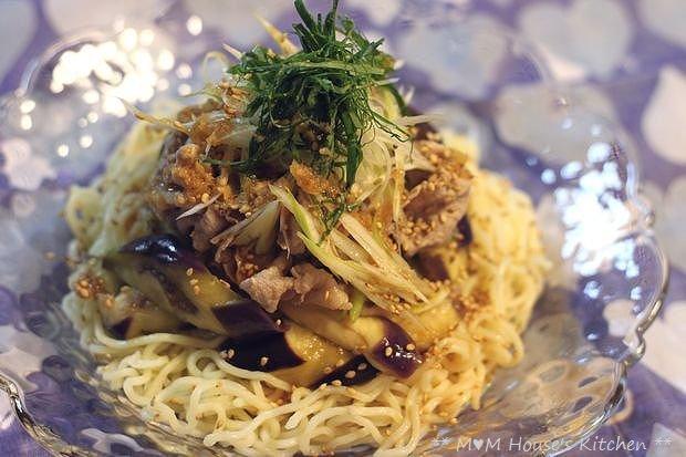 豚しゃぶと茄子の香味醤油 冷麺♪_c0139375_15293716.jpg