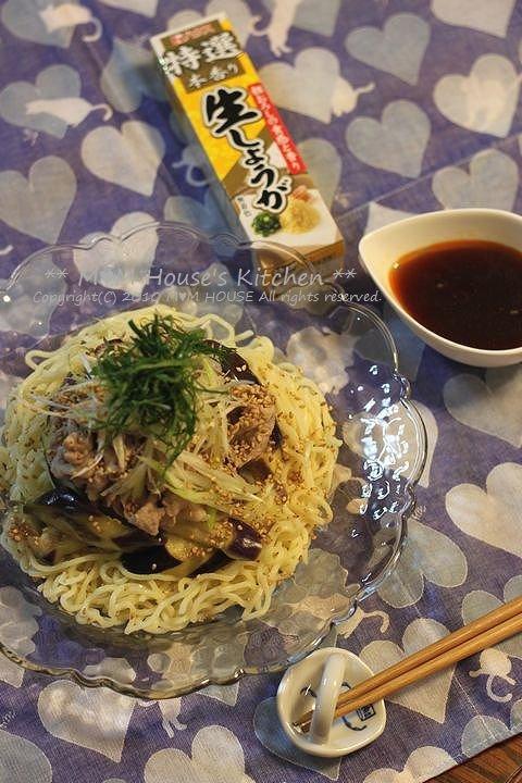 豚しゃぶと茄子の香味醤油 冷麺♪_c0139375_15294986.jpg