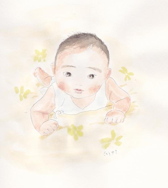 赤ちゃん似顔絵_f0072976_1174550.jpg