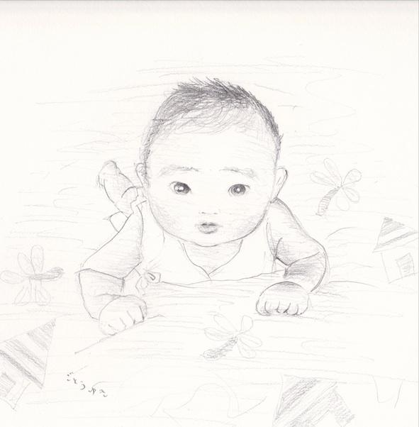赤ちゃん似顔絵_f0072976_1175822.jpg