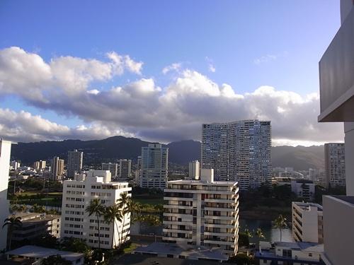 ホテルから山側の眺め