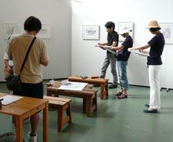 「堀越克哉作品展」開催中のワークショップ_a0017350_162293.jpg