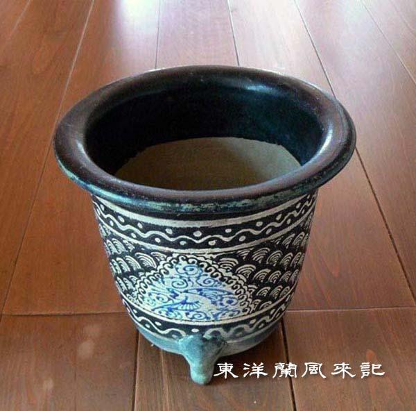 楽焼鉢「大阪楽」                     No.359_b0034163_0494.jpg