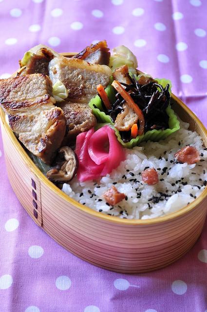 豚の味噌漬け弁当_b0171098_74741.jpg