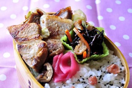 豚の味噌漬け弁当_b0171098_7534719.jpg