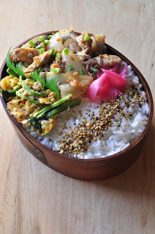キューピー具のソースで韓国焼肉味弁当_b0171098_714024.jpg