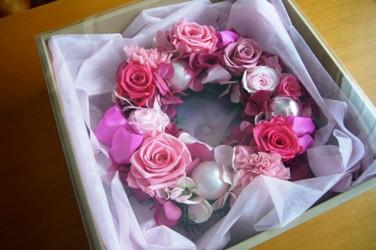 pink wreath_c0182100_1914580.jpg