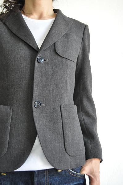 gauche / ゴーシュ  60/2オーガニック天竺 Small Pocket-Long-Sleeves