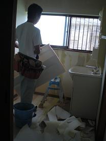 洗面所の内装を仕上げて完成です。~残る作業は・・・・。_d0165368_5503551.jpg