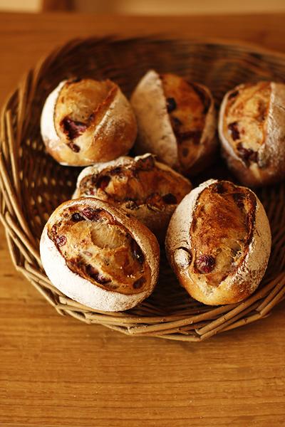 クランベリーと胡桃のパン_f0149855_1393491.jpg