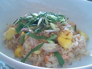 秋鮭と栗の炊き込みごはん_e0159969_19131887.jpg