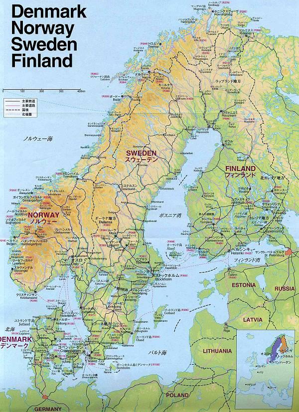 の地図です。デンマークの首都 ...