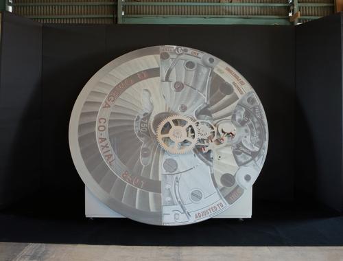 オメガ・コーアクシャル脱進機の巨大模型が大丸 福岡天神店に登場_f0039351_19421654.jpg