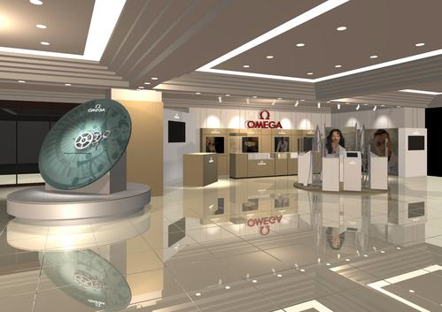 オメガ・コーアクシャル脱進機の巨大模型が大丸 福岡天神店に登場_f0039351_19431277.jpg
