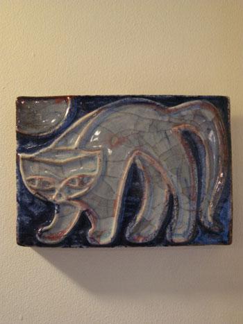 猫の陶板 (Michael Andersen)_c0139773_18343672.jpg