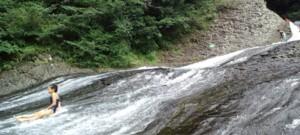 夏休みの思い出『滝すべり』in龍門の滝_d0082356_855284.jpg