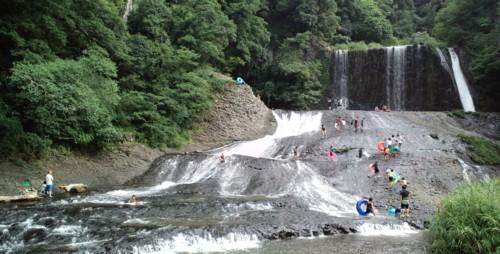 夏休みの思い出『滝すべり』in龍門の滝_d0082356_861263.jpg