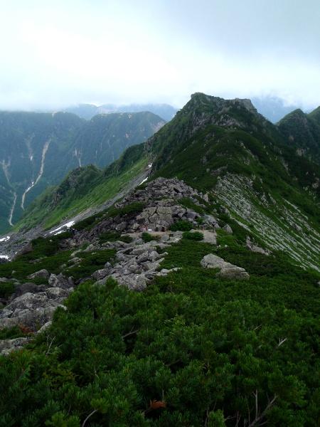 夏休み岩稜歩き-本谷カール_c0177814_19312546.jpg