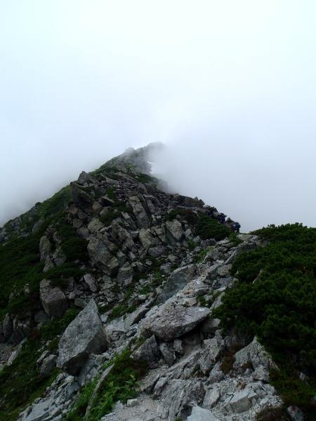 夏休み岩稜歩き-本谷カール_c0177814_19323268.jpg