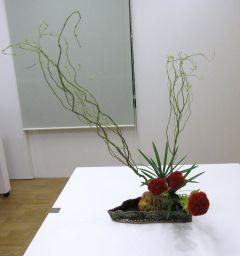自作花器にいける_c0165824_16205710.jpg