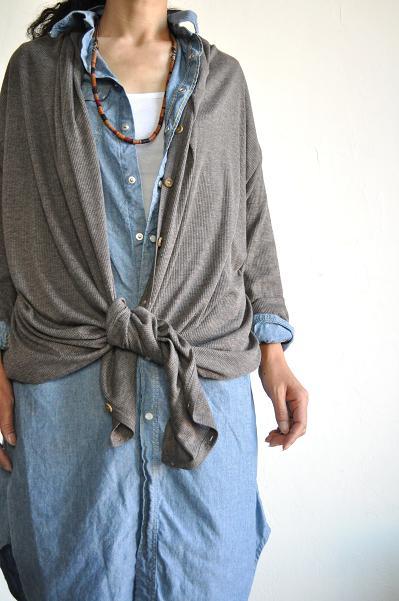 KAPITAL/キャピタル NEWシャンブレー 女の子ウエスタンロングシャツ