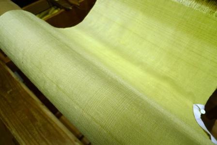 パントンカラーの紬シリーズ第二弾は『近江刈安』。_f0177373_19581561.jpg
