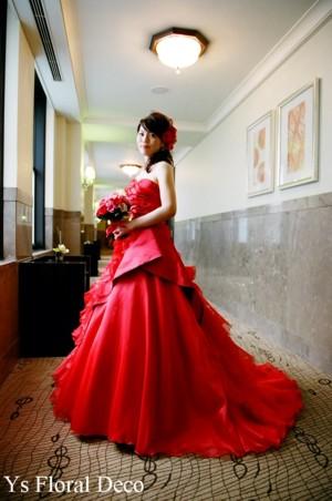 赤とピンクのクラッチブーケ_b0113510_1138023.jpg